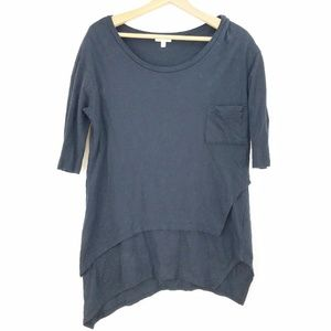 Silence + Noise Urban Outfitters Navy Blue Tunic